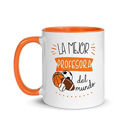 Kembilove Taza de Desayuno de la Mejor Profesora de Deportes del Mundo – Tazas de Café para Profesionales y Trabajadores – Tazas de Té de Color de Profesiones – Taza de Cerámica de 350 ml