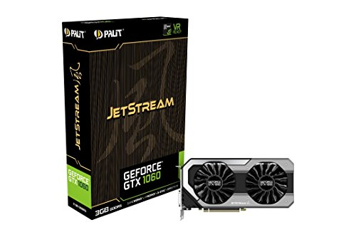 Palit GeForce GTX 1060 NE51060S15F9J PCI-e Super Jetstream 3GB 256Bit D/3DP/H Grafikkarte grau