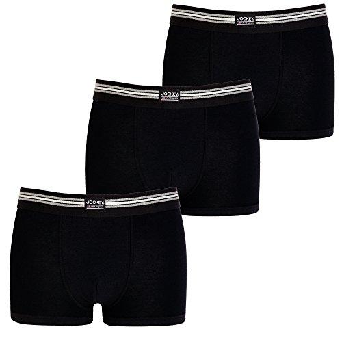 JOCKEY 3er Pack enger Herren BOXER SHORTS L Farbe 999 3 x schwarz Trunks Pants