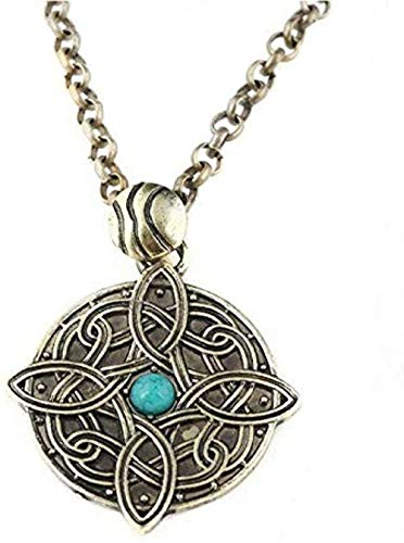Yaoliangliang Men s Necklace Amulet of Mara Necklace of The Elder Scrolls V Skyrim Pendant Dinosaur Triangle Cosplay Men Jewelry