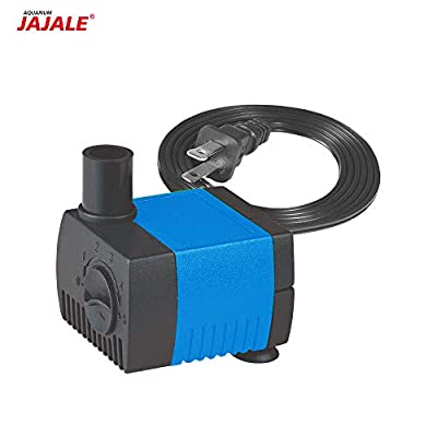 JAJALE 66 GPH Submersible Water Pump Ultra Quiet for Pond,Aquarium,Fish Tank,Fountain,Hydroponics -2 Pack