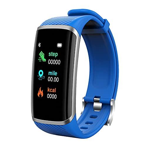 Reloj inteligente, pantalla a color de 1.2 pulgadas, reloj inteligente M8, pulsera deportiva impermeable IP67, cinta de correr de apoyo, kilometraje, calorías, monitoreo del sueño,adecuado para-blue