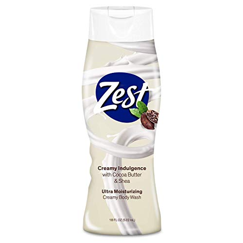 Zest Cocoa Butter and Shea Body Wash - 6 Pack x 18 Fl Oz - Enriched with Cocoa Butter and Shea – for an Ultra Moisturizing Shower - Leaves Your Skin Feeling Silky Smooth and Deeply Moisturized
