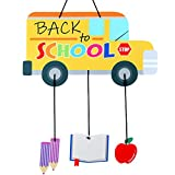 Jetec Hanging Back to School Party Decorations, School Bus Door Sign, Back to School Wall Decor, Welcome Board Felt with Rope for Home Party for Teachers for Classroom