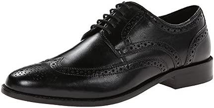 Nunn Bush Men Nelson Wing Tip Oxford Dress Casual Lace-Up, Black, 10 W US