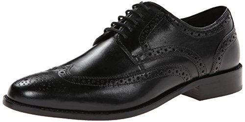 Nunn Bush Men's Nelson Wing Tip Oxford Dress Casual Lace-Up, Black, 7 Medium