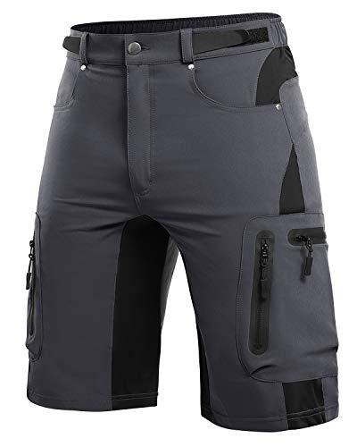 Cycorld, Pantaloni da Ciclismo da Uomo, per Mountain Bike, da Uomo, Corti, ad Asciugatura Rapida, Traspiranti, per Mountain Bike, Bici, Uomo, MTB Outdoor Shorts