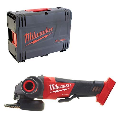 Milwaukee B01CRXZCFA 4933451427 Elektrowerkzeuge Akku m18cag125 X PD Winkel/0 mit Schalter von Suska und Bremse en die Behälter HD, Red