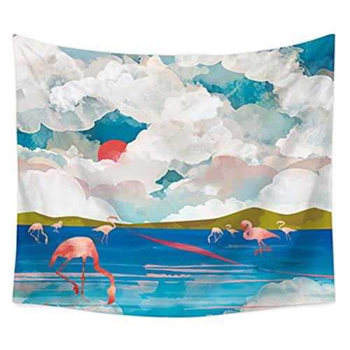 YYRAIN Tapiz De Flores De Arte Nórdico, Toalla De Playa Multifuncional, Decoración del Hogar, Tela De Fondo De Pared, Tela Colgante 35.43x27.55 Inch{90x70cm} B