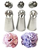 New Ball Russian Stainless Steel Tips Tulip Sphere Whip Cream Buttercream Icing Piping Nozzles DIY...