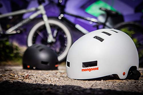 Mongoose Urban Hardshell Helmet for Scooter, BMX, Cycling and Skateboarding, Medium - 56-59cm