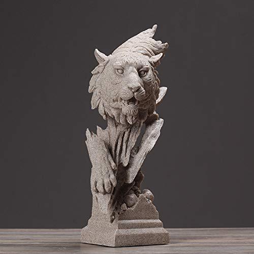 Estatuas Escultura Estatuillas,Diseño De Tigre Salvaje Busto Animal Figuras Arte Estatuas Creativas Modernas Obras De Arte para El Jardín del Hogar Corredor Sala De Estar Statuettes Ornamentos Deco