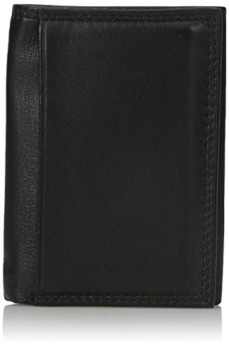 Buxton Men's Emblem - Leather Id Threefold Wallet, black, One Size