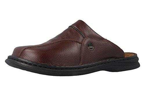 Josef Seibel Klaus Herren Clogs | Echtleder-Herrenschuhe für drinnen und draußen | Komfort-Schuhe aus Rindsleder, Braun (341 brasil/schwarz), 43 EU