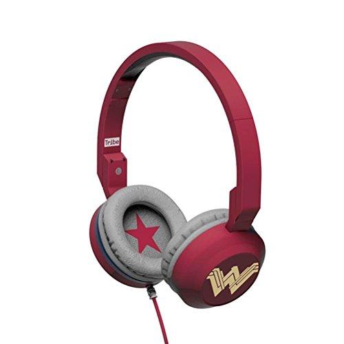 Tribe DC Comics Cuffie On-Ear pieghevoli con Microfono incorporato I Gaming Headset per Smartphone, PC, PS4 e Xbox - Wonder Woman