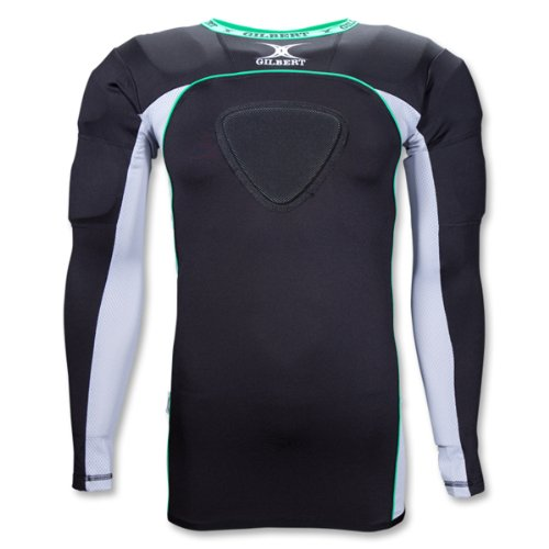 Gilbert Atomic Thermo Rugby Langarm-Schulterschutz, Small