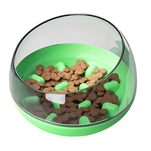 BENBANG Tazón de alimentación lenta para mascotas comedero divertido para perros, vaso de plástico laberinto interactivo rompecabezas gato tazón tazón perro (19 x 19 x 14 cm) 1 pieza