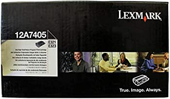 Lexmak 12A7405 E321 E323 Toner Cartridge  Black   Packaging May Vary