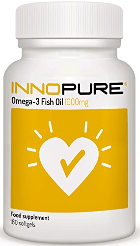Omega 3 Fish Oil Capsules - 2000mg per Daily Dose Providing EPA & DHA, 180 Softgels - Made in The UK by Innopure