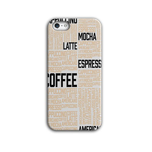 Wellcoda Kaffee Latté Mokka Slogan Hülle für iPhone 5 / 5S Wörter rutschfeste Hülle - Slim Fit, komfortabler Griff, Schutzhülle