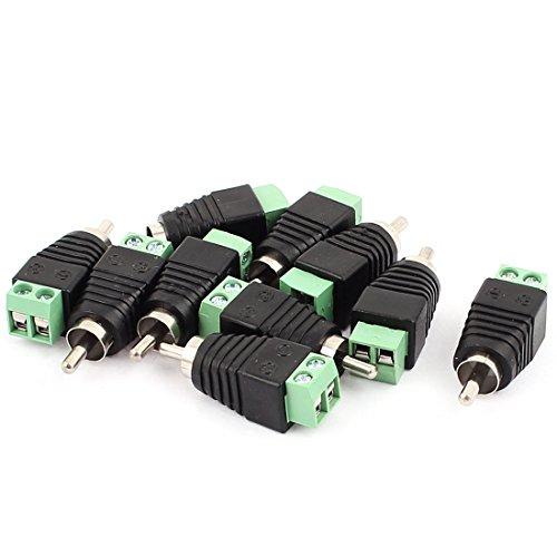 Sourcingmap® Adapter Lautsprecher-RCA-Kabel auf AV Cinch-Stecker, 10 Stück de