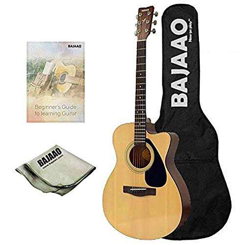 Yamaha FS100C Acoustic Guitar (Natural) With Gig Bag, Polishing Cloth, E-book & 1 year official warranty from Yamaha