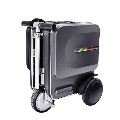 Chunse Electric Suitcase Scooter, 29.3L Portable Smart Riding Scooter Luggagetravel Storage Case Carry Luggage for School Airport Business,Black