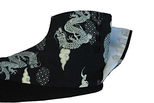 『[武蔵野ユニフォーム]【サムライ足袋 ユニセックス 黒龍】 柄足袋 《091-kokuryuu》 (22.0)』の4枚目の画像