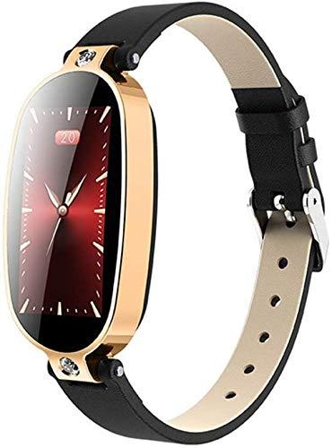 Qin~xiao Bluetooth Smart Uhren B79 Smart Watch Frauen PPG + EKG-Damen Smart-Armband Herzfrequenzmesser Blutdruck Call Reminder Smart-Armband Uhr für Männer Frauen Kinder (Color : D)