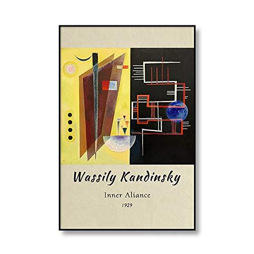 Vasily Kandinsky lienzo abstracto pintura cartel impresión pared arte...