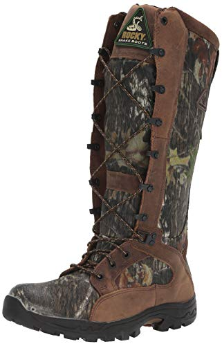 Rocky Mens Prolight 16 Inch Waterproof Snake Proof Hunting Boots Knee High - Brown - Size 10.5 M