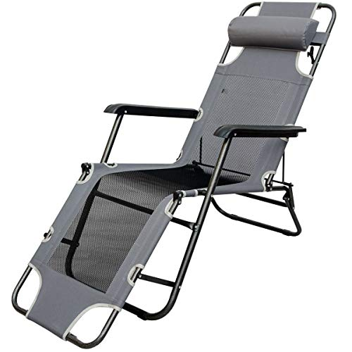 AMANKA Liegestuhl 180x60cm - Sonnenliege Strandliege Gartenliege Campingstuhl Klappliege