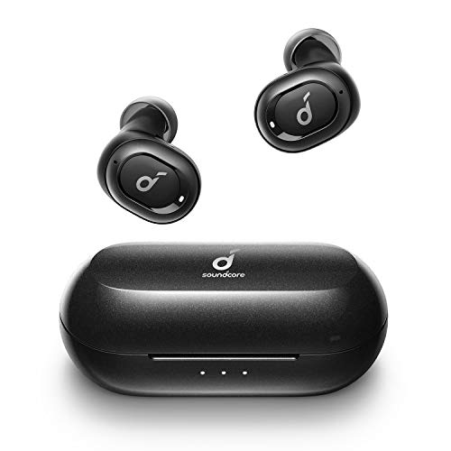 Anker Soundcore Liberty Neo Bluetooth Kopfhörer, Kabellose Kopfhörer mit Premium Klangprofil mit intensivem Bass, IPX7 Wasserschutzklasse, Bequemer Halt, Bluetooth 5.0 (Schwarz)