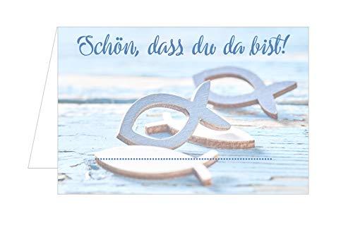 Edition Seidel Set 50 Premium Tischkarten Platzkarten Namenskarten Kommunion - Konfirmation - Firmung - Taufe - Feier
