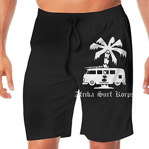 LarissaHi Afrika Surf Korps Bus Vigilant Schnelltrocknende Badehose für Herren Beach Shorts Board Shorts XL