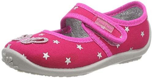Fischer Jungen Mädchen Nelly Niedrige Hausschuhe, Pink (Pink 46), 26 EU