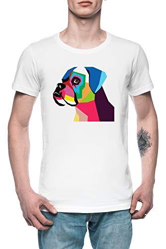 Boxer Herren T-Shirt Tee Weiß Men's White T-Shirt