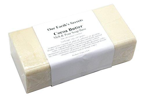 Our Earths Secrets Cocoa Butter - 2 Pound Melt and Pour Soap Base
