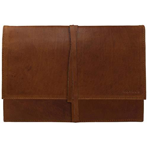 ROYALZ Lederhülle für Acer Switch 3 Ledertasche Tasche Schutz Hülle Cover Schutztasche Schutzhülle Hülle Sleeve Leder, Farbe:Cognac Braun