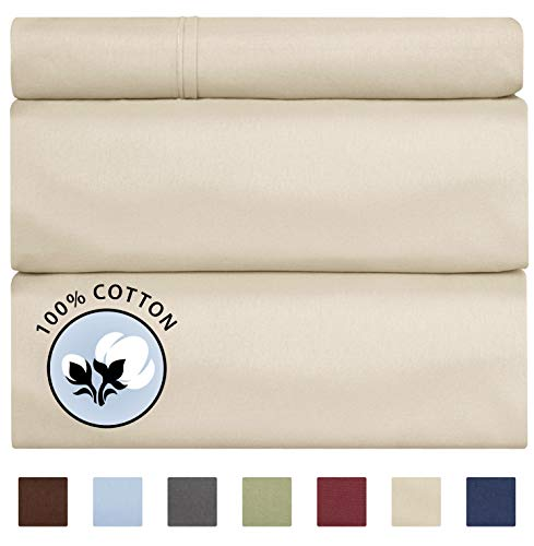 100% Twin Size Sheets Cotton Bei...