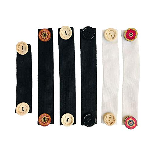 Ear Savers for Masks, Elastic Extender Straps for Back of Head; Anti-tightening Mask holder, Button hook, Comfortable Straps for Face Mask Hooks Behind Head (6 PCS)