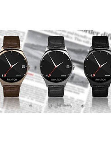 Bluetooth 3.0 Amun-re Smartwatch (monitor de frecuencia cardíaca, ECG, termómetro, resistente al agua y al polvo, Bluetooth temporizador automático), plata