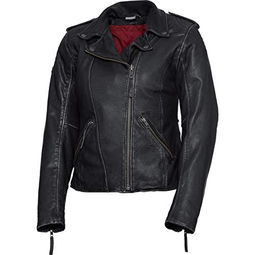 Spirit Motors Motorradjacke mit Protektoren Motorrad Jacke Damen Soft Lederjacke 2.0 schwarz XXL, Chopper/Cruiser, Ganzjährig