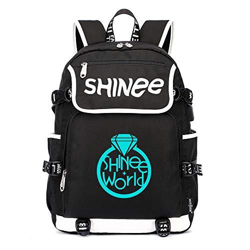 Shinee Rucksäcke Schulranzen Rucksack Daypack Trekking Mann und Frauen Rucksack Wandern Tasche Trend Fashion Sports Wild Style Shinee Backpacks (Color : Black11, Size : 45 X 37 X 16cm)