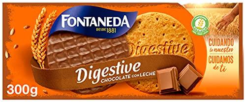 Fontaneda Digestive Galletas Cubiertas de Chocolate con Leche, 300g