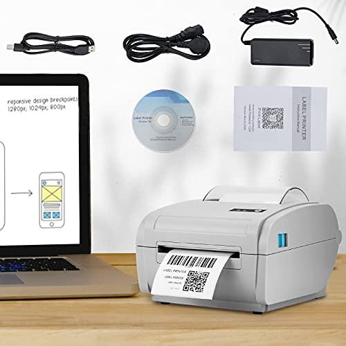 Stampanti Etichette Termiche LaSoGi 160mm/s 203 dpi 6x4 USB Portatile Bluetooth Label Sticker Maker con codice a barre Spedizione Termica Etichettatrici per Windows/Mac/ESC/POS per Uffici, Spedizioni