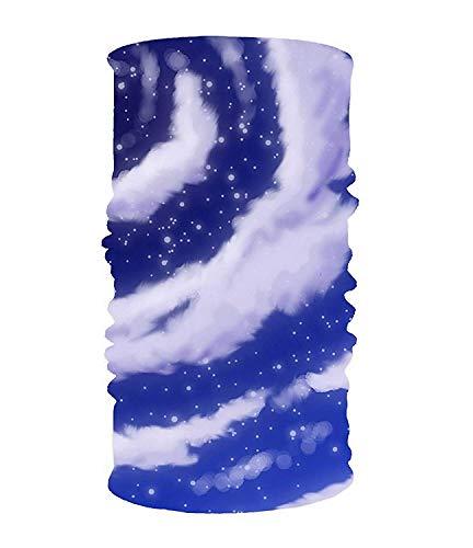 CHSUNHEY Bandeaux,serre-têtes,The Moon in The Sky Elastic Cool Seamless Magic Scarf Headband,Face Mask,Balaclava Bandana UV Resistence Sport Headwear for Outdoor Sports