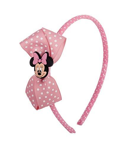 SIX Haarreifen mit rosa Minnie Maus Schleife Disney (305-362)