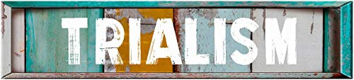 TRIALISM 8' Rectangle Verticle Wood Panels Weathered Painted Rustic Look Decal Bumper Sticker for use on Any Smooth Surface