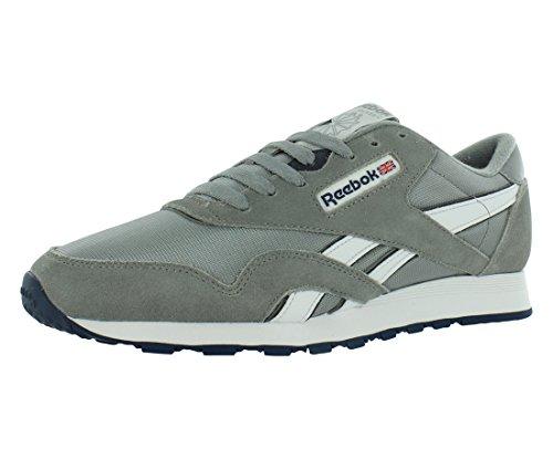 Reebok Unisex Classic Nylon Sneaker, Silber (Platinum/Jet Blue), 43 EU
